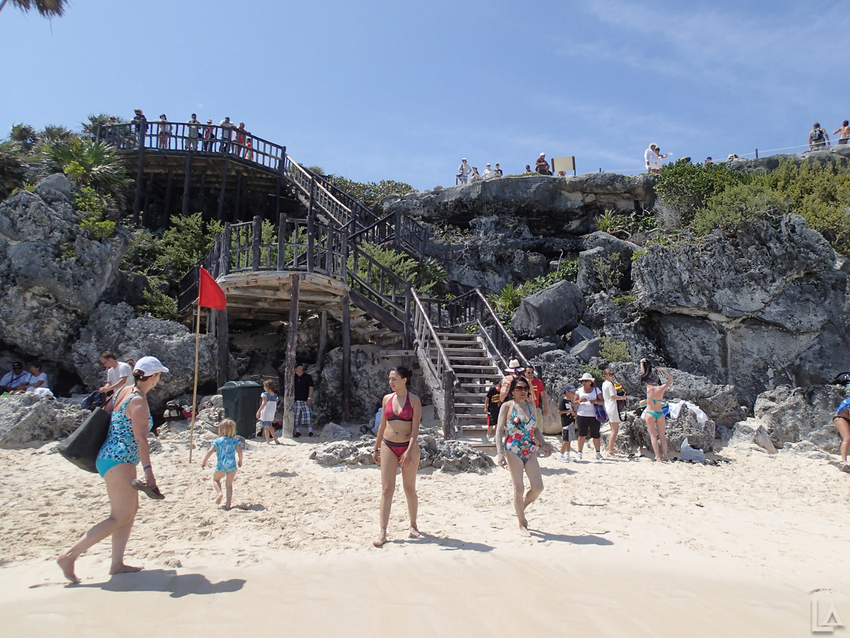 Staircase Down to the Public Beach