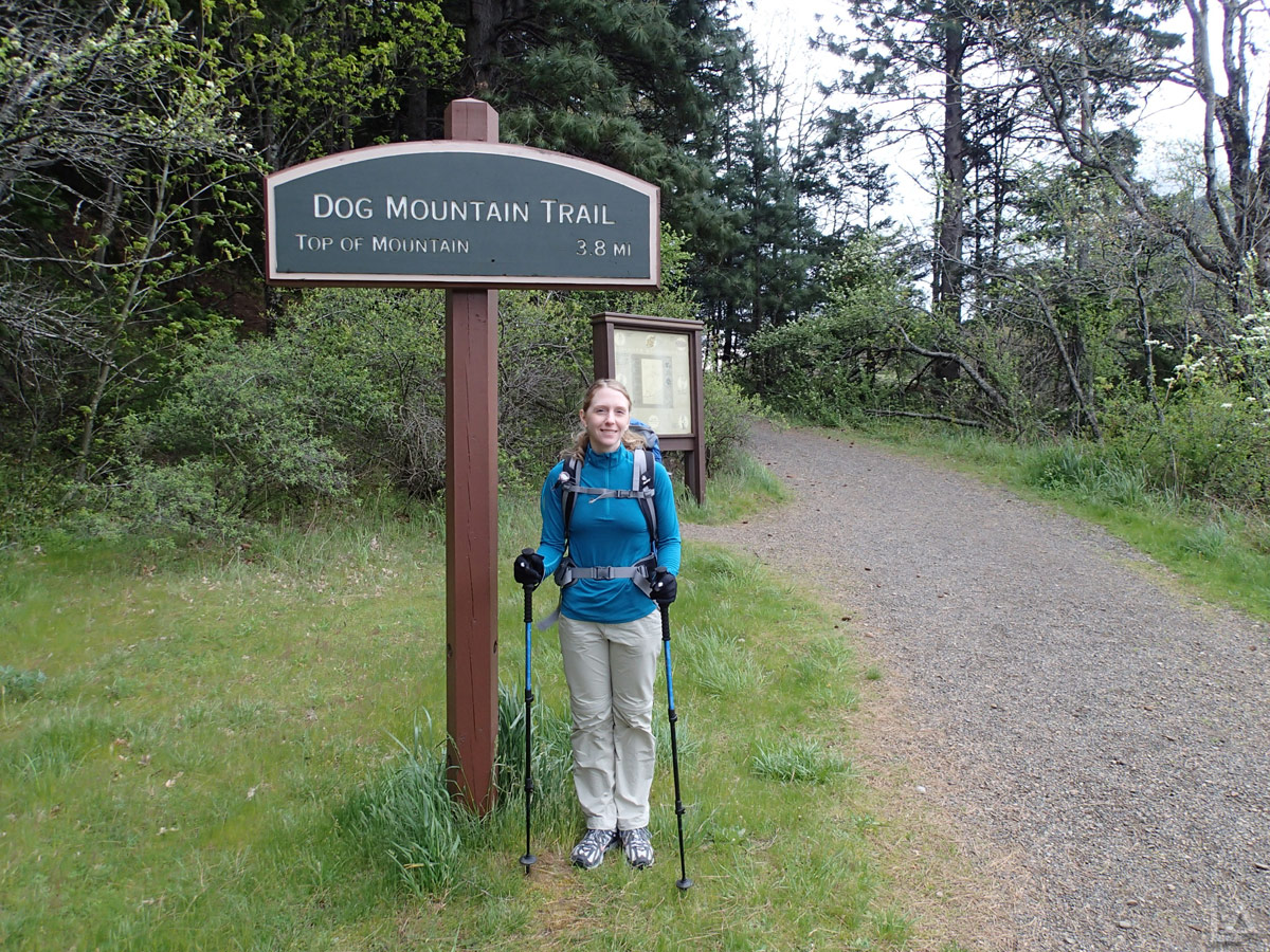 Katie Eager to Hike to the Top of Dog Mountain