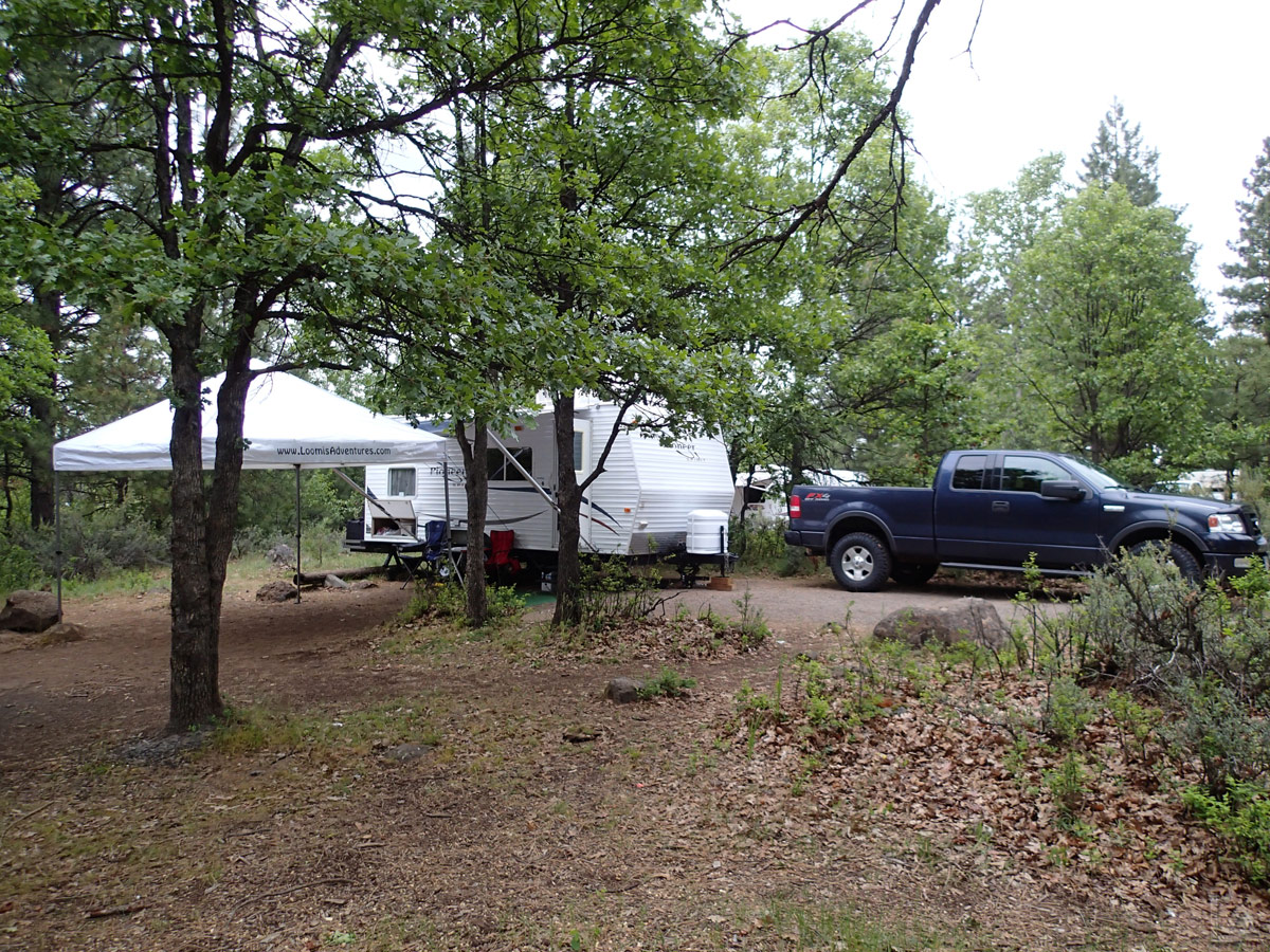 Campsite at Rock Creek Reservoir
