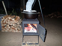 Dutch Oven Cooking on Wood Stove