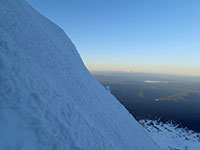 Looking Towards Mt Jefferson from the Seep Slope of the Pearly Gates High on Mt Hood