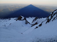 Looking Down from the Pearly Gates at Mt Hood's Shadow
