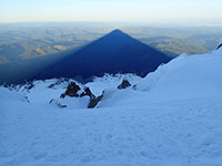 Mt Hood's Shadow from the Summit