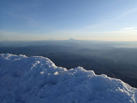 Looking North From the Summit Towards Mt Saint Helens, Mt Rainier, and Mt Adams