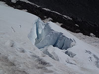 Crevasse on White River Glacier