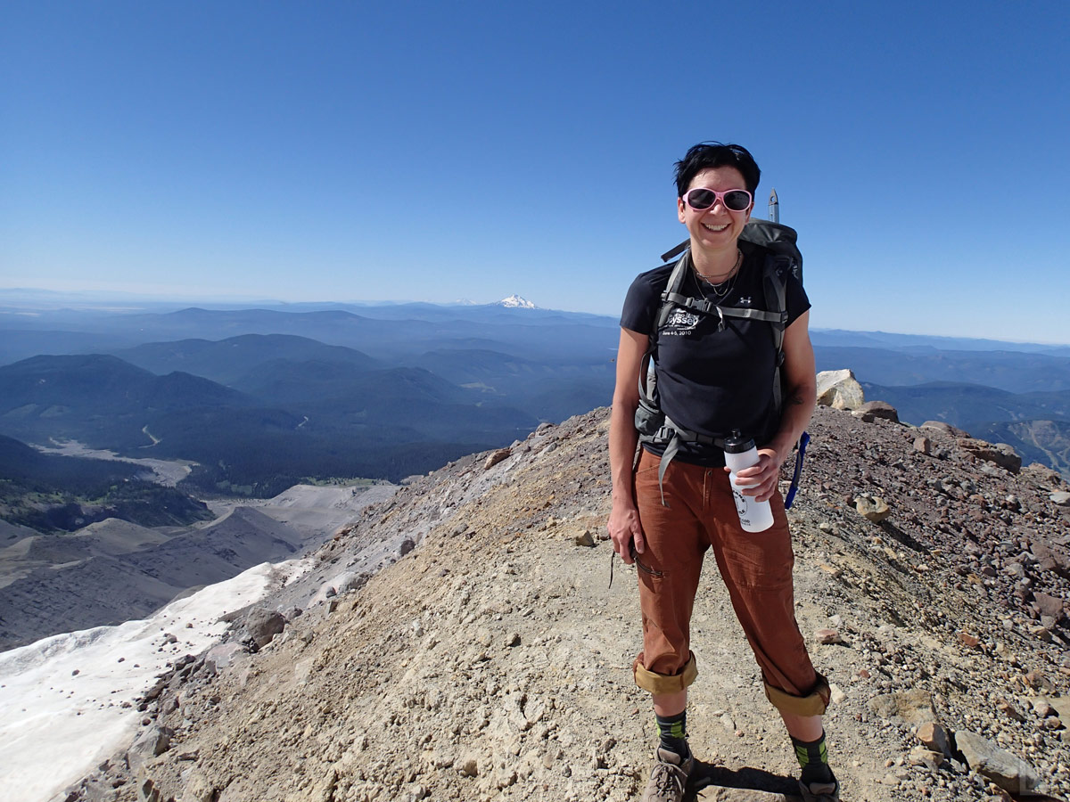 Cari with Mt Jefferson in the Background