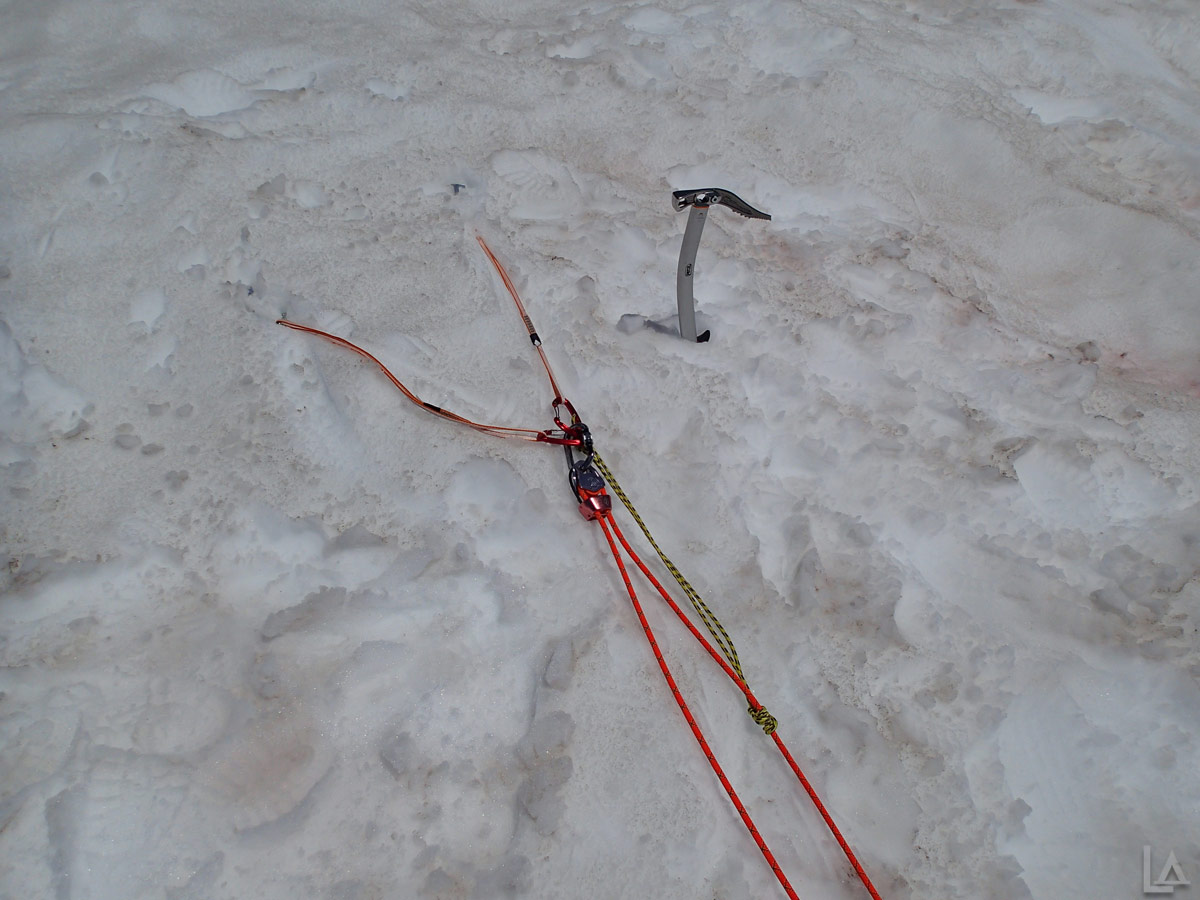 First Pulley in Z-Pulley Crevasse Rescue System