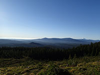 Overlooking a Clearcut with Mt Jefferson in the Background