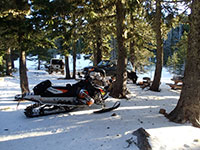 Bonney Meadows Campground in the Snow