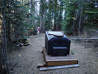 Composting toilet below Pechuck Fire Lookout
