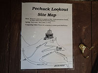 Pechuck Lookout site map