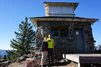 Katie and I in front of Pechuck Lookout