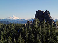Mt Jefferson and Rooster Rock
