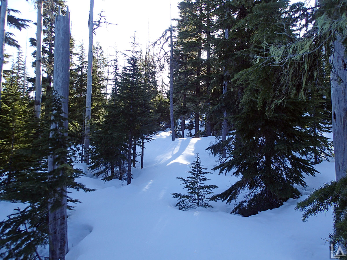 Lots of snow on Olallie Butte