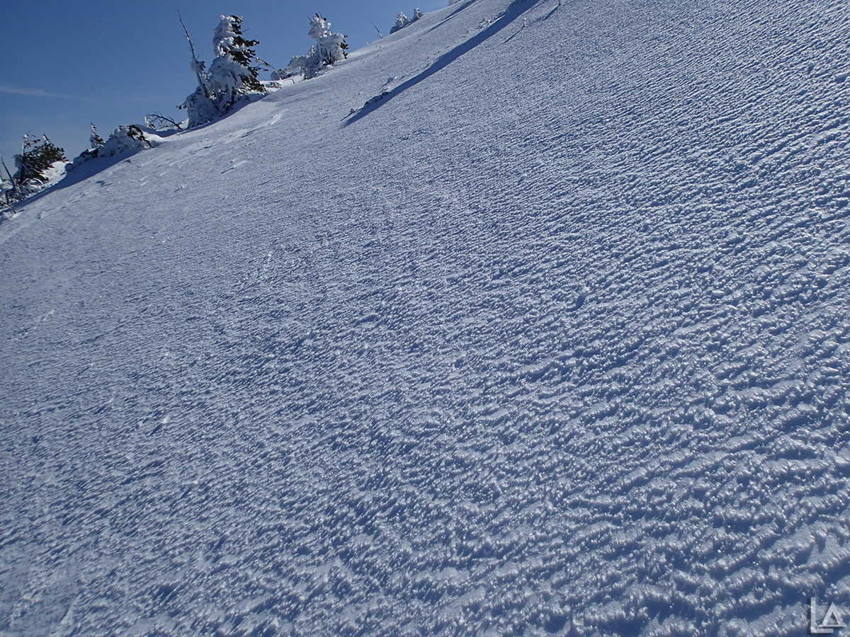 Cool textured icy slope