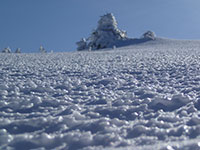 Closeup of icy slope