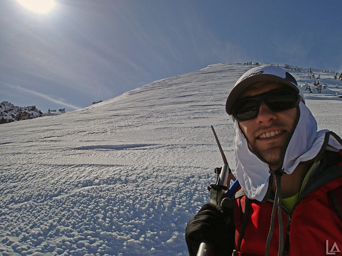 Selfie with Olallie Butte summit within my grasp