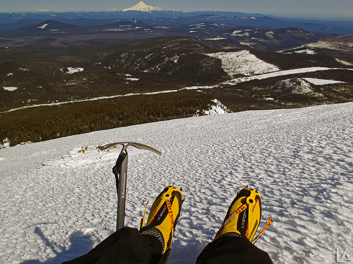 Foot shot from Olallie Butte with Mt Hood in the background