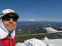 Selfie from Olallie Butte with Mt Hood in the background