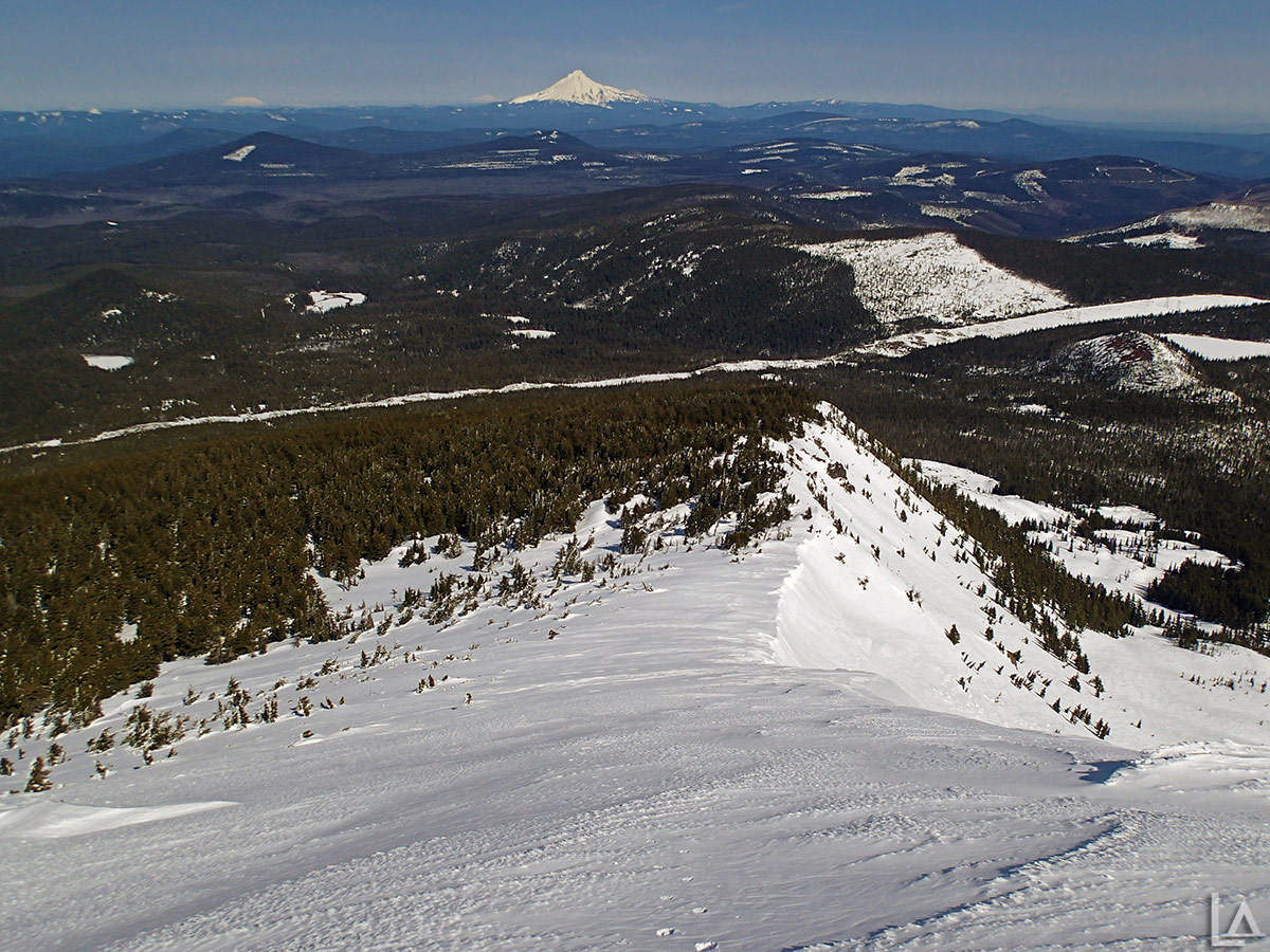 Looking down the North ridge of Olallie Butte