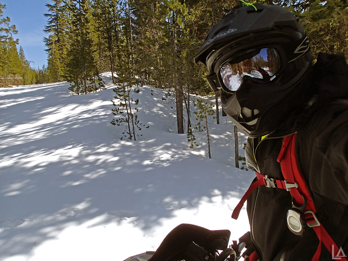Selfie from Olallie Butte trailhead on my snowmobile