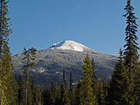 Olallie Butte covered in snow
