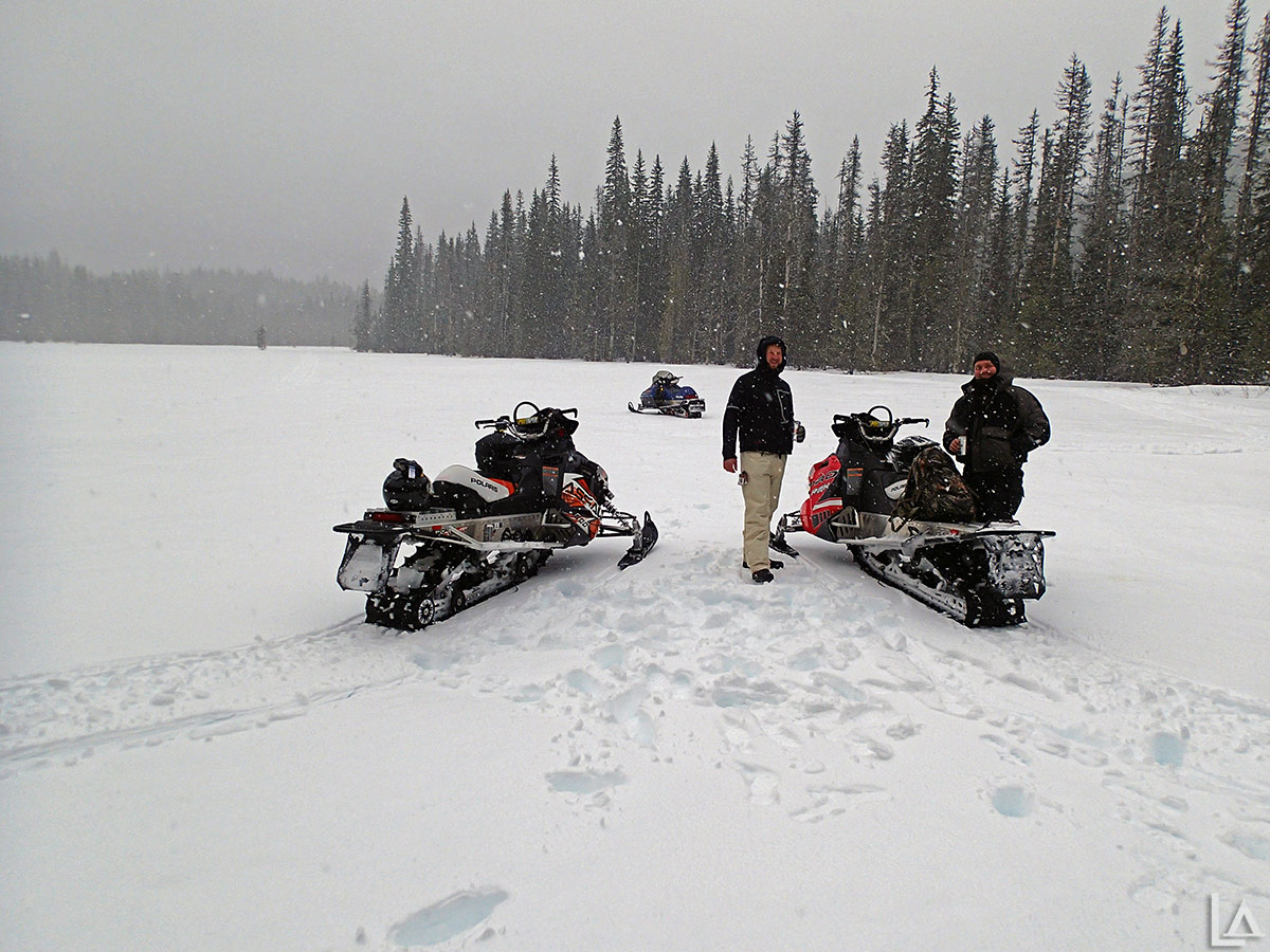 Snowmobiling at Olallie Meadow