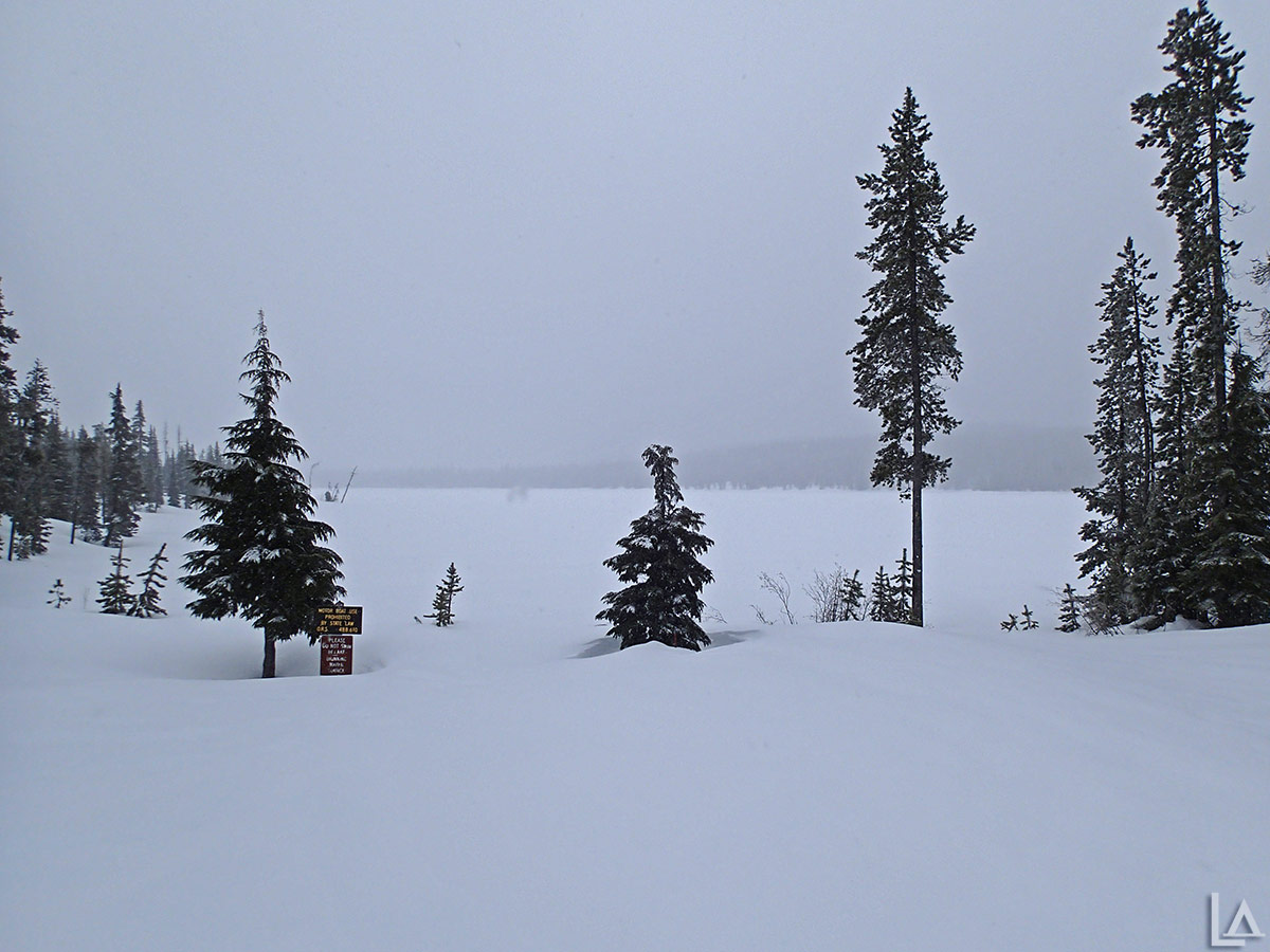 Olallie Lake in the winter