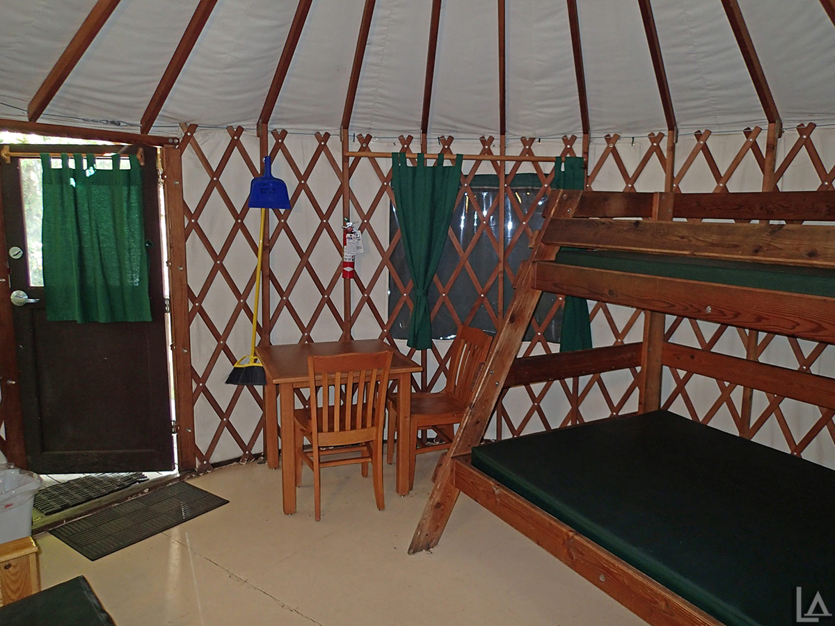 Another look inside the yurt