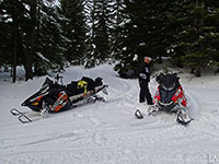 Out for a snowmobile ride