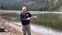 John with a beautiful rainbow trout