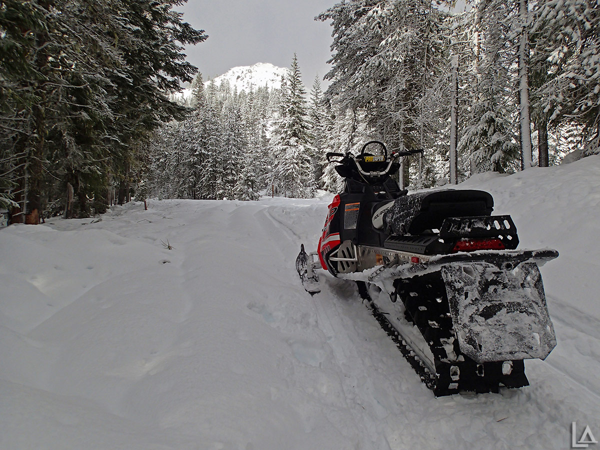 Snowmobiling near High Rocks