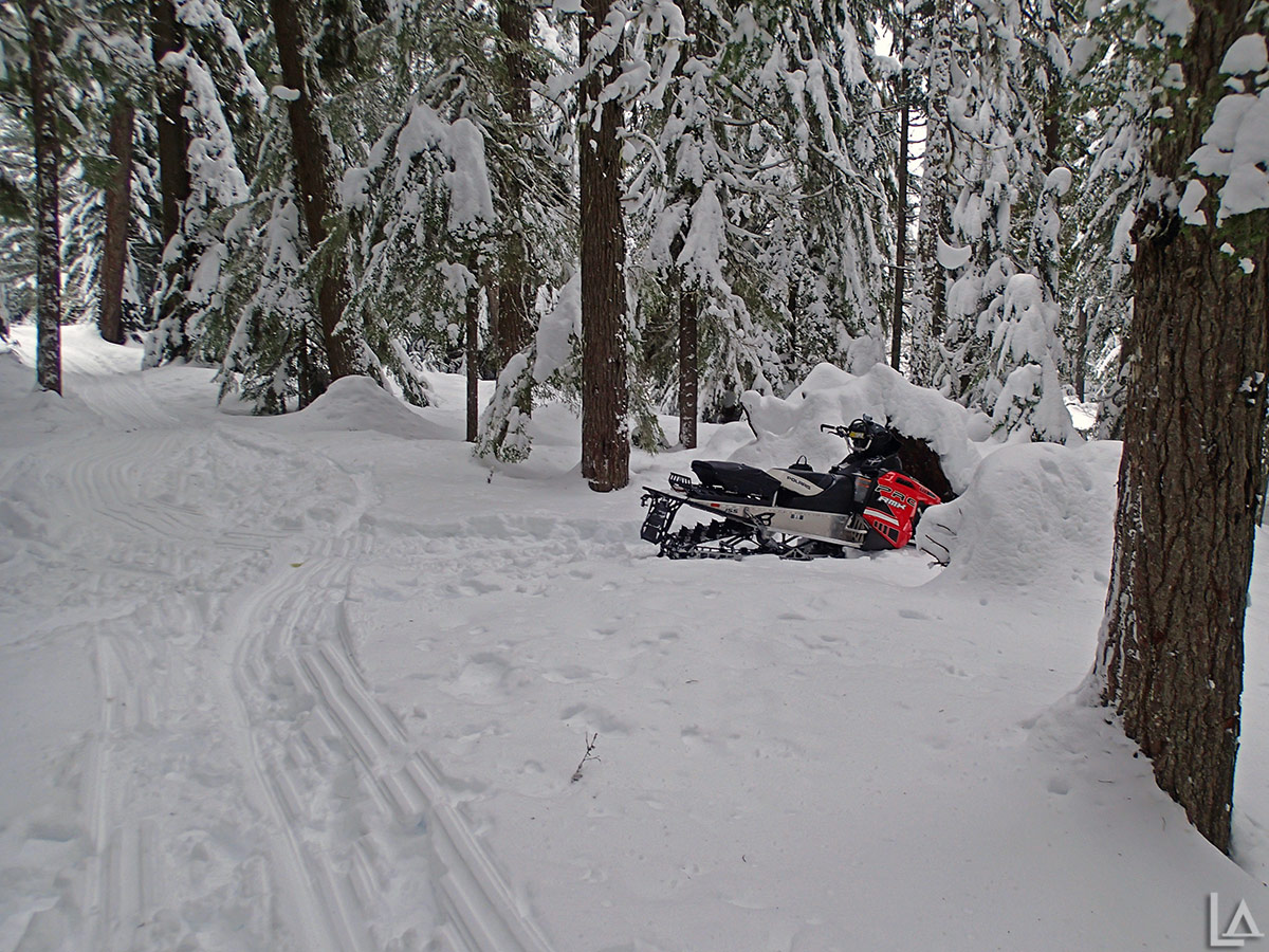 Still tons of powder for snowmobiling