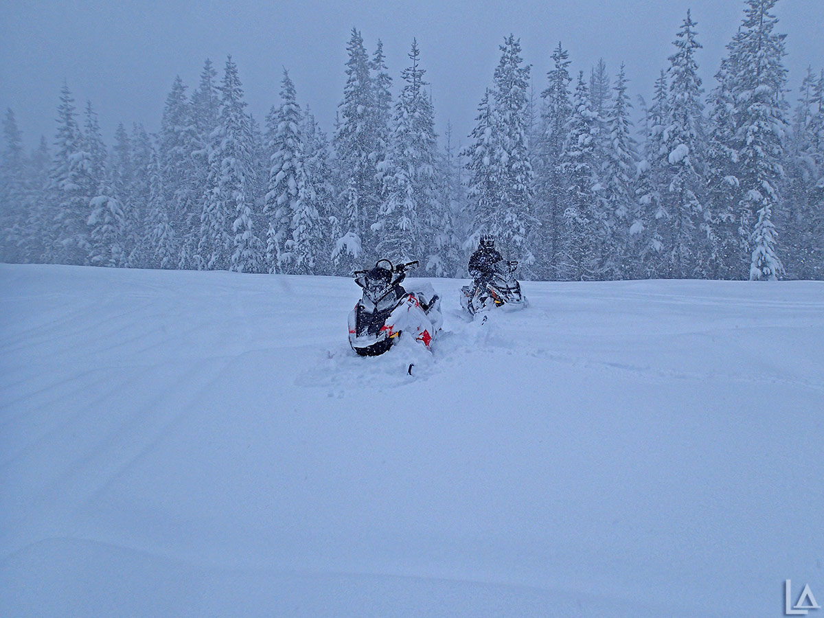 Snowmobiling near High Rock, Oregon