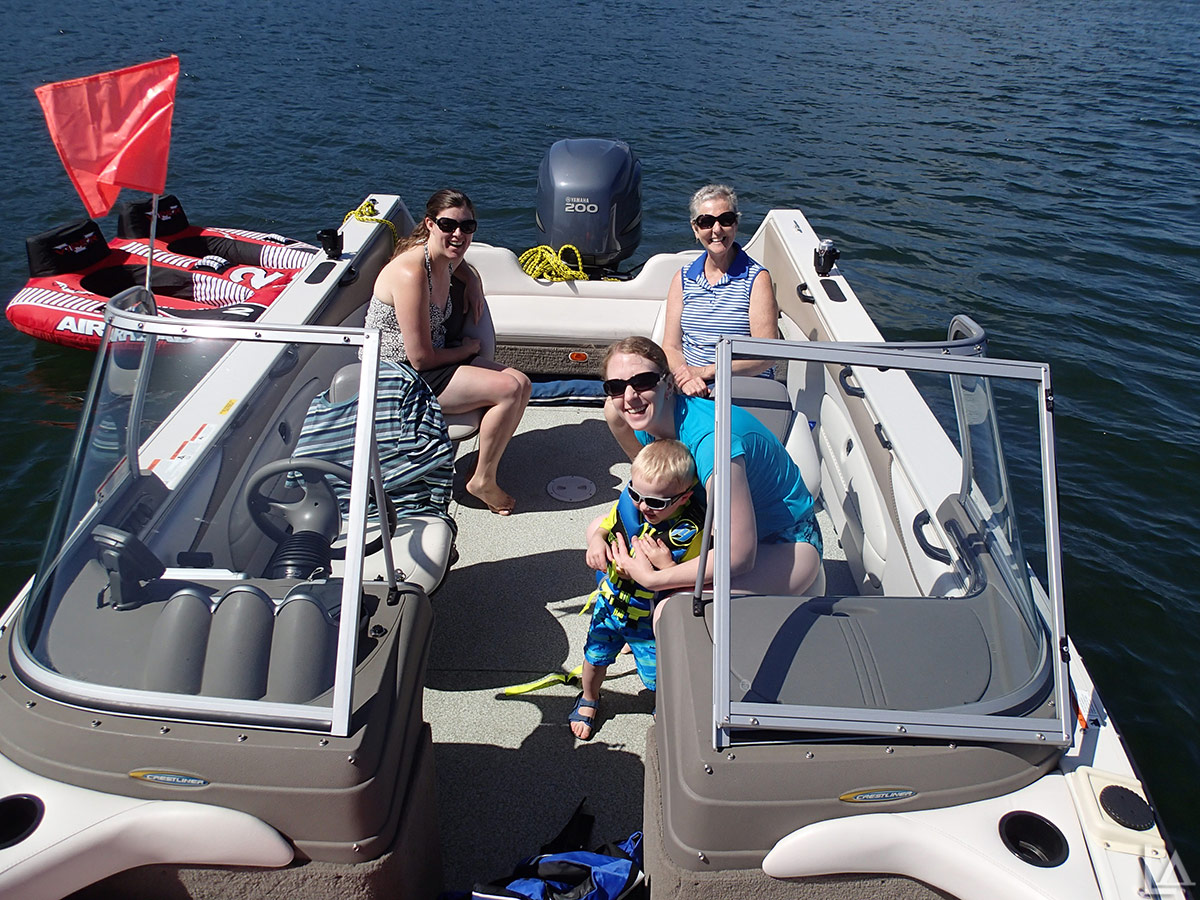 Fun on our boat in the Columbia River, Oregon