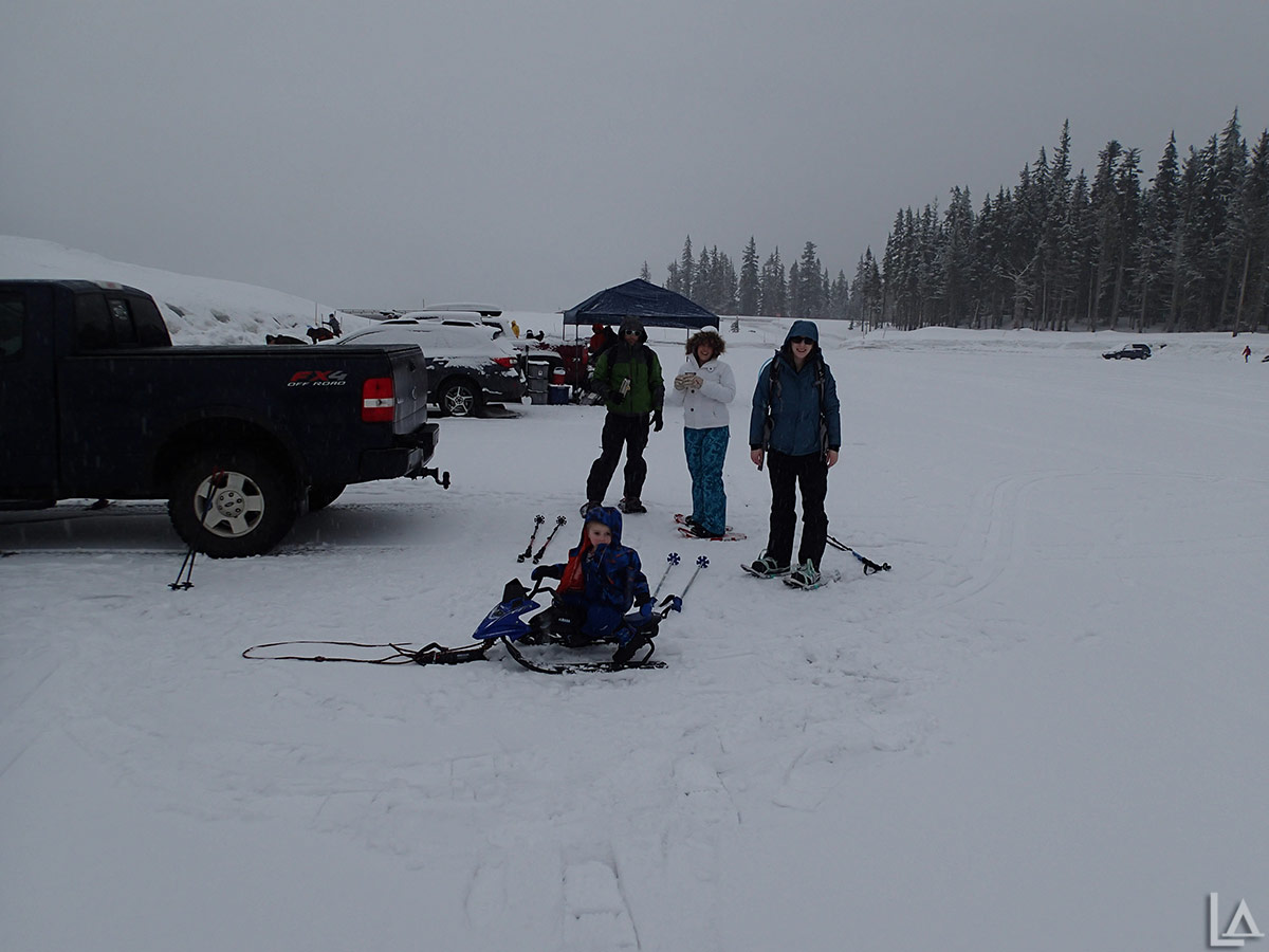 Getting ready to snowshoe up White River canyon