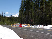 Road still closed from Mt Bachelor to Elk Lake