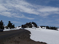 So much snow still at Crater Lake at the end of June