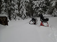 Deep powder at Bonney Meadows