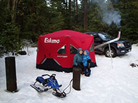 Snow Camping in an Eskimo FatFish 6120i