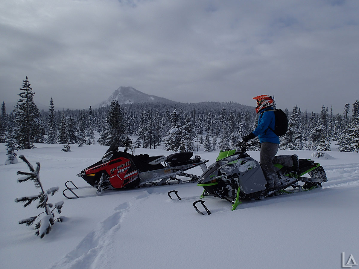 Beautiful conditions for snowmobiling