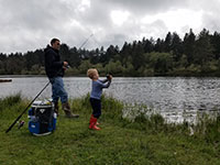Fishing at Coffenbury Lake