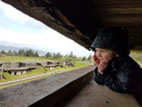 Julian having a blast exploring Fort Stevens