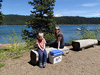 Julian and Katie at Elk Lake, Oregon