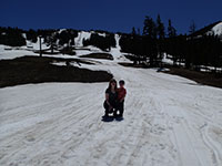 Katie and Julian on Mt Bachelor