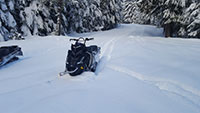 Snowmobiling to Bonney Meadows