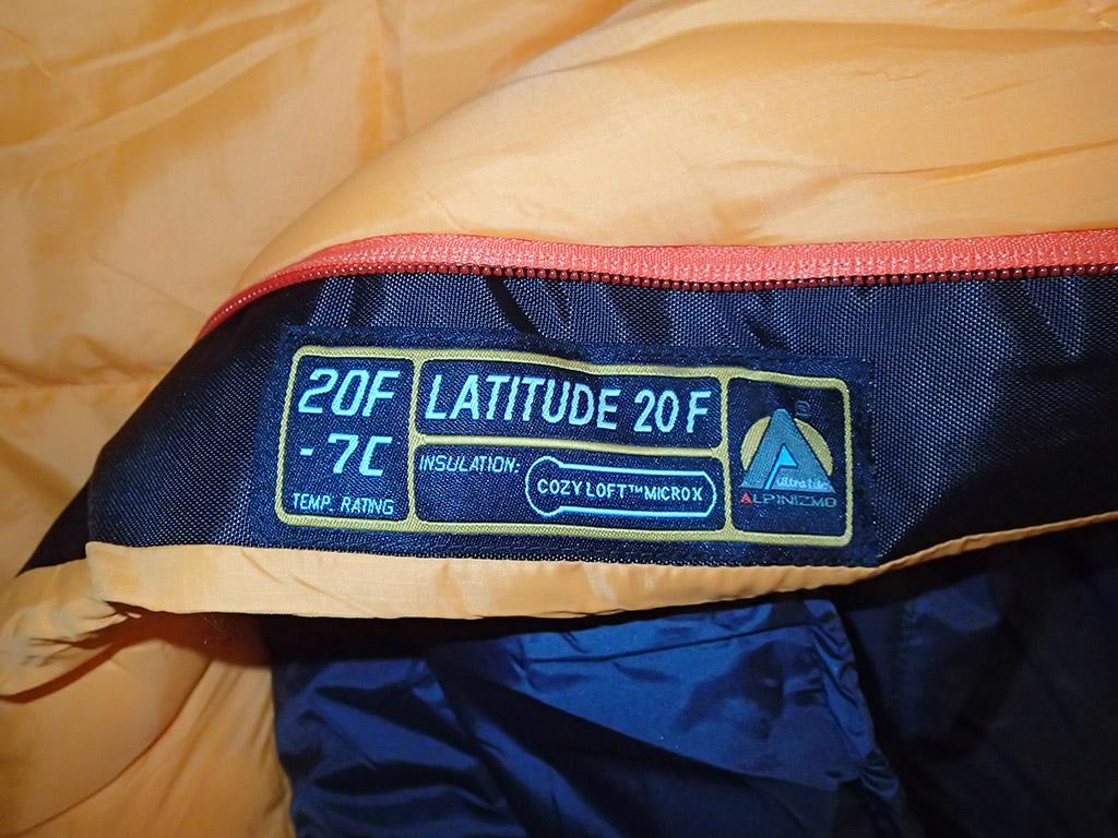 Alpinizmo By High Peak USA Latitude 20 Sleeping Bag