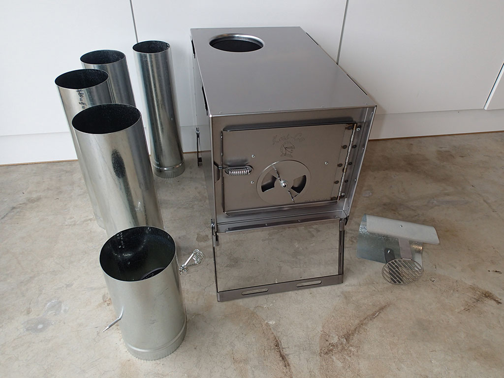 Picture of Kni-Co Alaskan Junior Camp Wood Stove w/Pipe Set - Kni-Co Alaskan Jr Camp Wood Stove Review Loomis Adventures