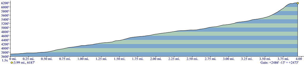 Maxwell Butte Trail Elevation Profile