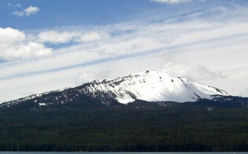 Mount Bailey from Diamond Lake, Oregon
